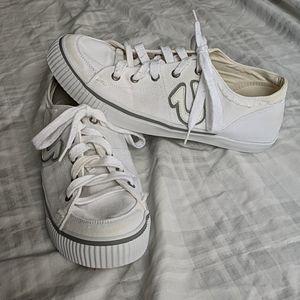 True Religion | White Canvas Sneakers